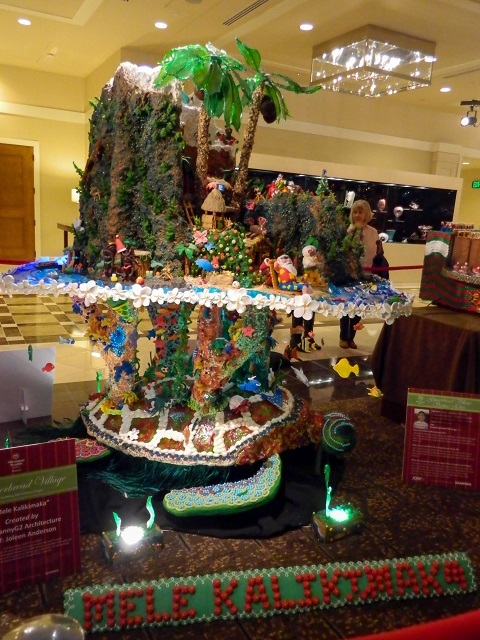 The Mele Kalikimaka gingerbread village display, 2014 Holiday Season at the Sheraton in Seattle.