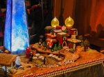 Detail of the shepherds and inn of the Bethlehem gingerbread village, 2014 Holiday Season in Seattle.