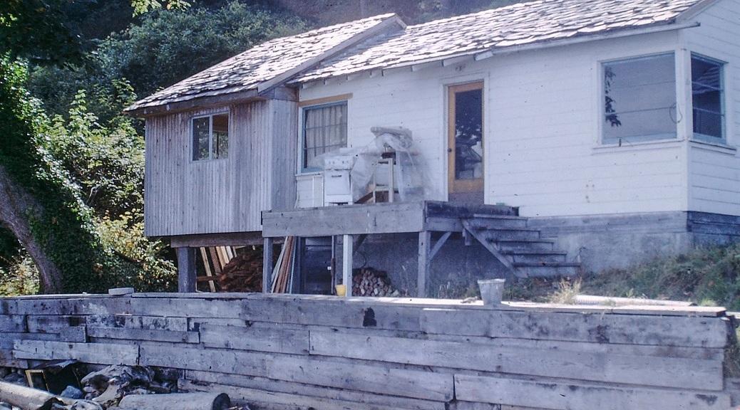 Vashon Island beach house, circa 1964.