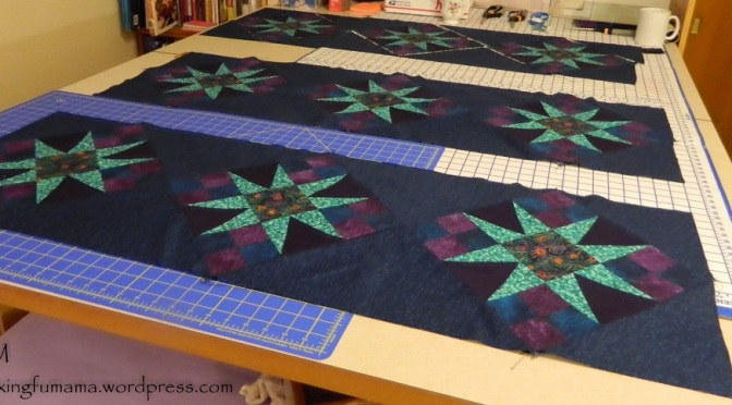 A Quilt on the Table…Waiting for Shoes to Drop