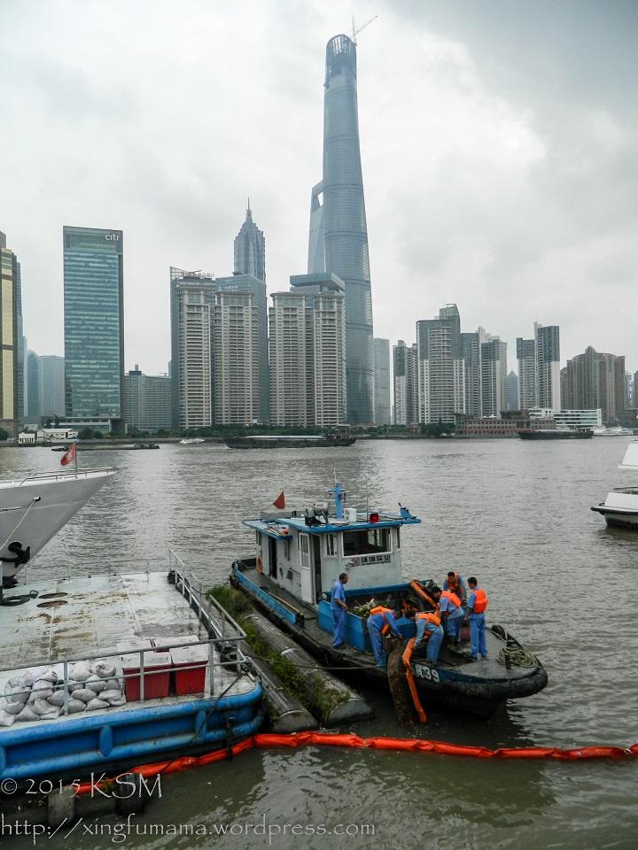 Huangpu River Shanghai.