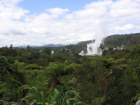 Clouds of steam at Te Whakarewarewatangaoteopetauaawahiao