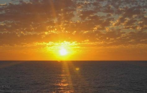 Choppy clouds at sunrise.
