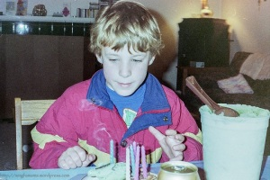 Birthday Cake and Boy