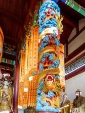 Dragon column at Fengdu, Ghost City, Chongqing, China.