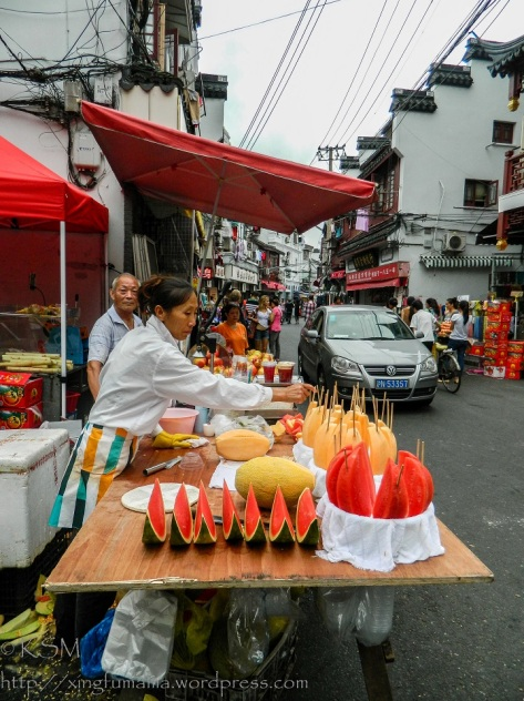 Melon vendor in Shanghai.