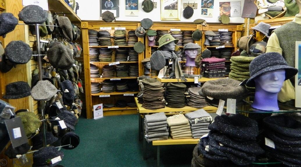 Woolen hats in Killarney.