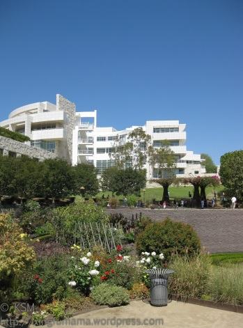 """Gleaming white walls of """"The Getty"""" in LA."""