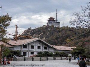 Yishan National Park in Shandong: hotel under construction.