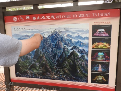 Tourist map of Taishan.