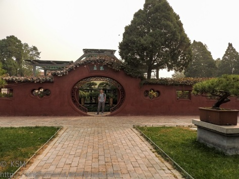 Dai Miao: Entrance to a bonsai garden.
