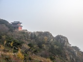Tai shan summit: view toward the southeast.