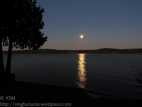 Full moon setting.