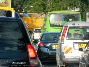 Traffic jam in Nairobi Kenya.