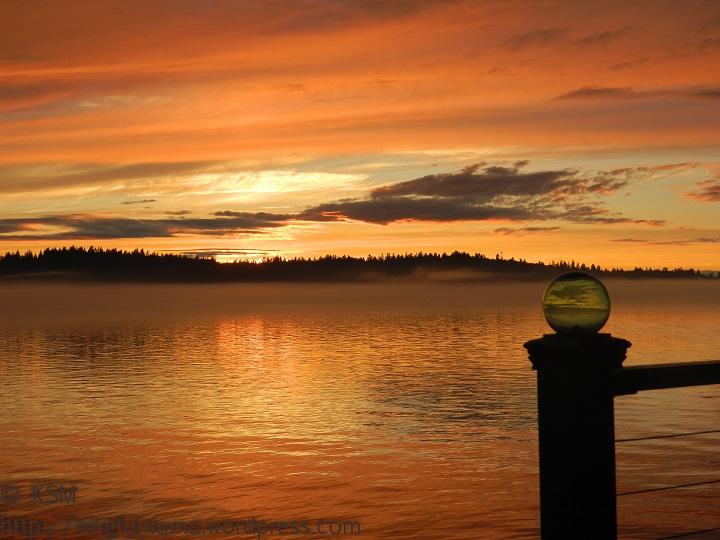 Golden sunset on Puget Sound.