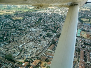 View of Nairobi from the air.