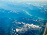 Canadian Rockies from the air.