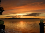 Golden sunset, Cedarhurst on Vashon Island, Washington State.