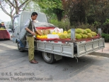 Fruit vendor.