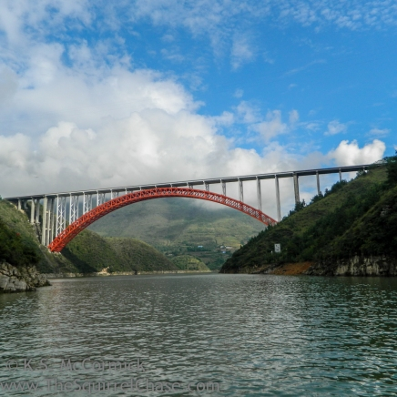Bridge over the entrance to the lesser three gorges area.