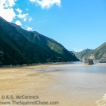 Entering Qutang Gorge from the east (facing upriver).