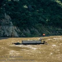 Trash picker, in Qutang Gorge.