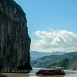 Shipping traffic in Qutang Gorge.