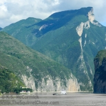 Looking back toward Qutang Gorge from the exit.