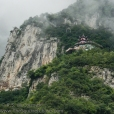 Temple on the mountain in the Wu Gorge.
