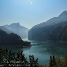 View of the entrance to Qutang Gorge, Kweimen, from White Emperor City.