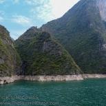 Mountain tops along Qutang Gorge.