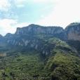 Mountain scenery along the Wu Gorge.