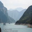 Shipping traffic in the Wu Gorge.