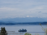 Ferry and Olympic Mountains.