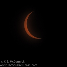 Partial eclipse,, nearing totality.