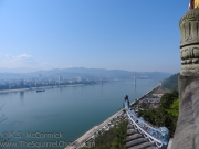 View from the top of Fengdu Ghost City.