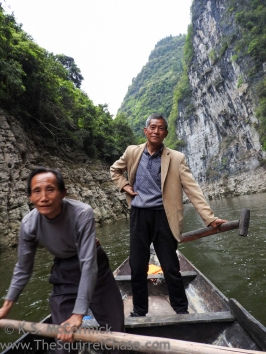 Boatmen on Shennong Stream.