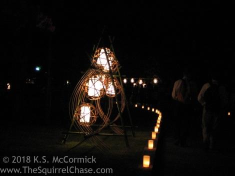 Elaborate lantern assembly.