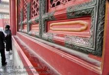 Finger polished dragons in the Forbidden City.
