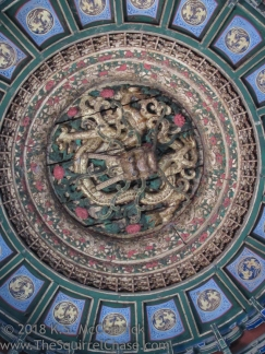 Ceiling decoration in the Forbidden City.