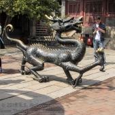 Courtyard of Tianhou Temple in Qingdao..
