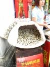 Baked eggs for sale in Shanghai.