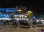 Street and pedestrian traffic in Tai'an China
