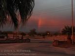 Rainbow at sunset in Quartzsite, Arizona.
