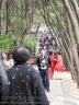 Heading up to the temple at Penglai Pavilion.