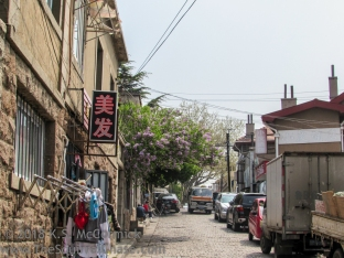 Typical street out of major tourist area.