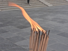 The flame was kind of scary.