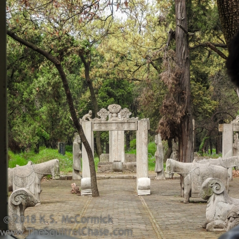 At a grave site in Qufu's Kong Lin.
