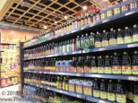 An entire section of soy sauces.