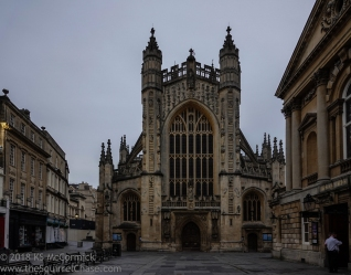 Bath Abbey at dusk